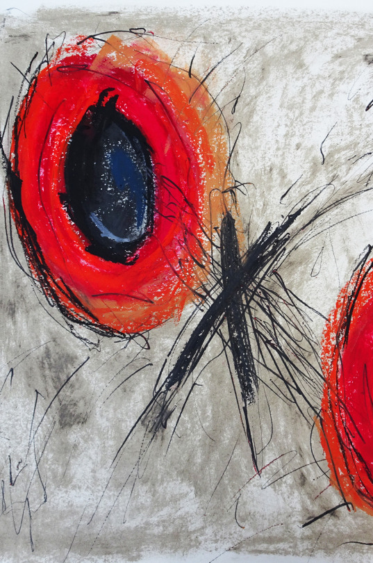 50x70cm (détail) pastels à l'huile et graphite sur papier